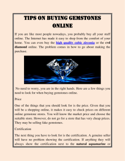 Tips on Buying Gemstones Online