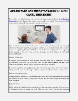 Advantages and disadvantages of root canal treatment