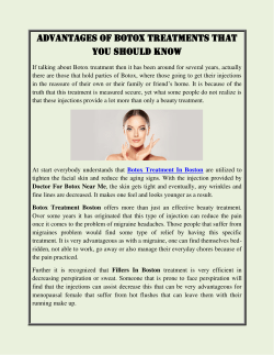 Advantages of Botox Treatments That You Should Know