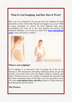 What Is Cool Sculpting And How Does It Work