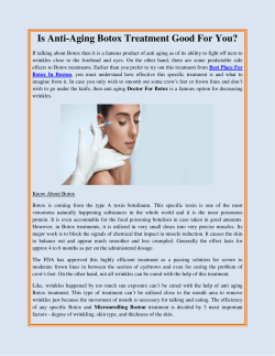 Is Anti Aging Botox Treatment Good For You