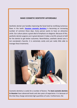 Make Cosmetic Dentistry Affordable
