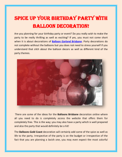 Spice up your birthday party with Balloon Decoration