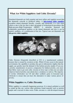 What Are White Sapphires And Cubic Zirconia
