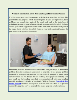 Information About  Periodontal Diseases and Bone Grafting