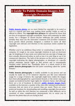 A Guide To Public Domain Images And Copyright Protection