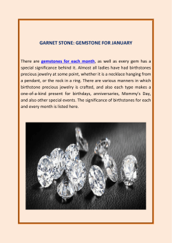 Garnet Stone Gemstone For January
