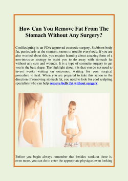 How Can You Remove Fat From The Stomach Without Any Surgery