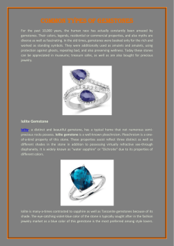 Common Types Of Gemstones