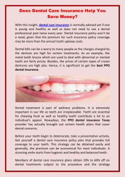 Does Dental Care Insurance Help You
