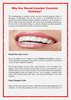 Why One Should Consider Cosmetic Dentistry