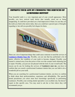 Improve Your Life By Choosing The Services of Lumineers Dentist